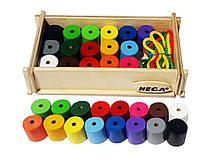 Шнурівка HEGA Інклюзія 16 кольорів. Набір для рахунку.