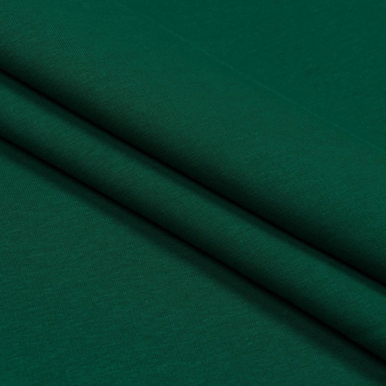 Ткань трикотажная Футер Петля. Темно зеленый. Купить оптом в Украине, от рулона