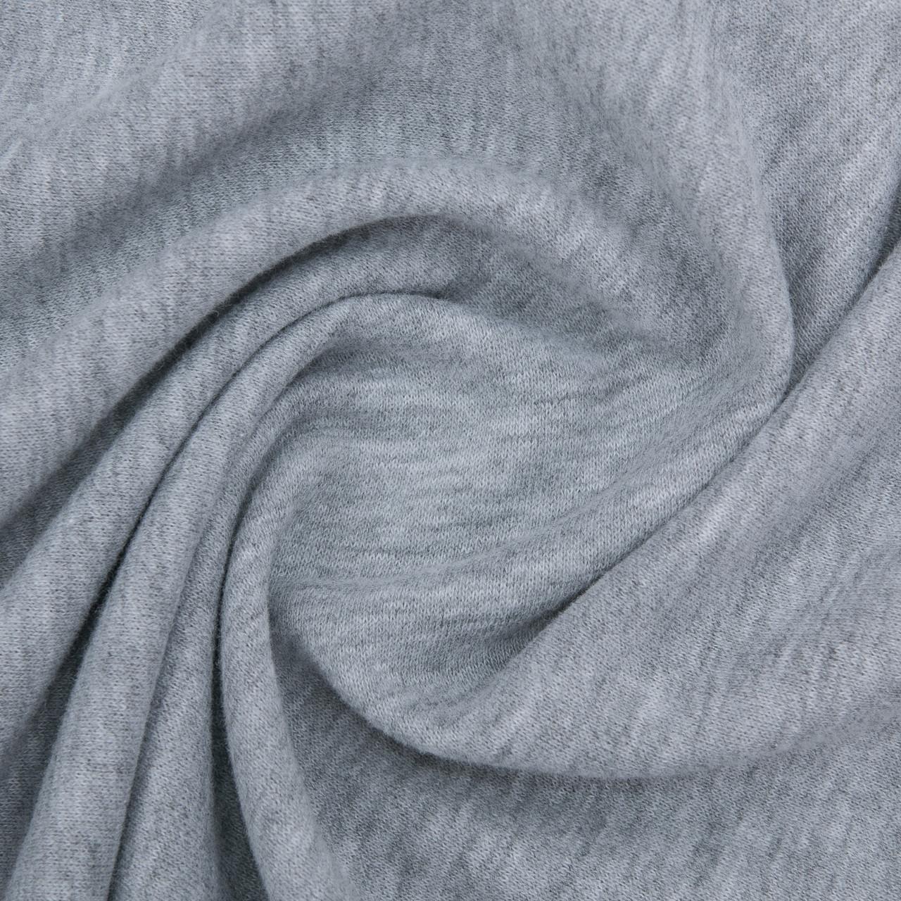 Ткань трикотажная Футер Петля. Серый. Купить оптом в Украине, от рулона