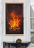 Обогреватель-картина инфракрасный настенный ТРИО 400W 100 х 57 см, камин 3D, фото 2