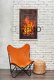 Обогреватель-картина инфракрасный настенный ТРИО 400W 100 х 57 см, камин 3D, фото 3