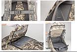 Рюкзак тактический B35 50 л, черный, фото 7