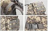 Рюкзак тактический B35 50 л, черный, фото 8