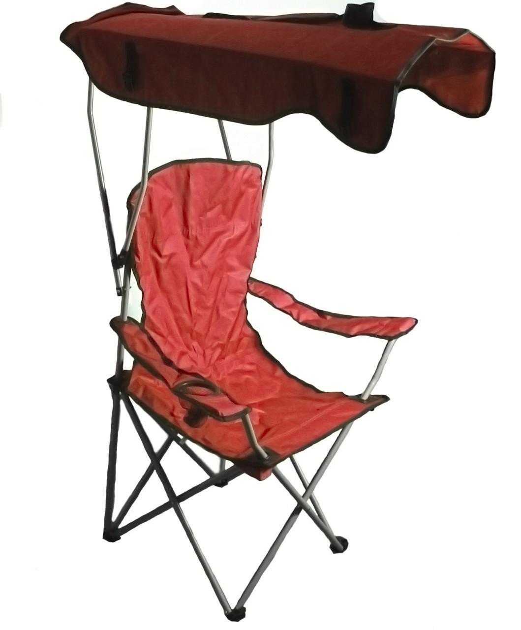 Кресло раскладное Паук с навесом R28854 50х80х124 см, красное