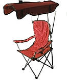 Кресло раскладное Паук с навесом R28854 50х80х124 см, красное, фото 2