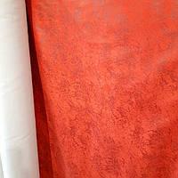 Мокрый флок мебельная ткань водоотталкивающий для уличной кухонной мебели 150 см сублимация 6057-Ивори бордо, фото 1