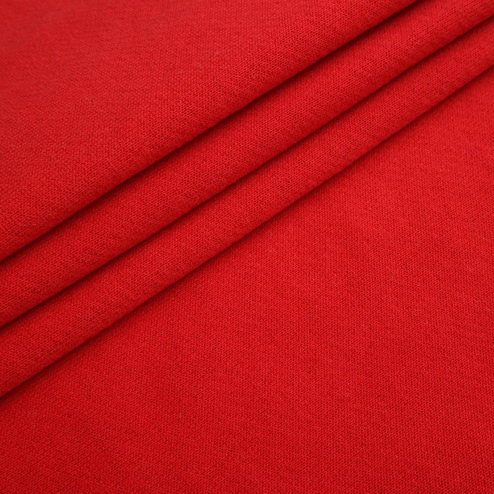 Ткань трикотажная Футер Петля. Красный. Купить оптом в Украине, от рулона