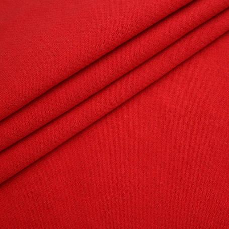 Ткань трикотажная Футер Петля. Красный. Купить оптом в Украине, от рулона, фото 2