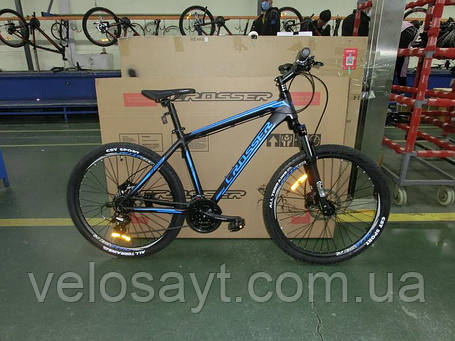 "Горный велосипед 26 дюймов Crosser One рама 18"" Black-Red, фото 2"