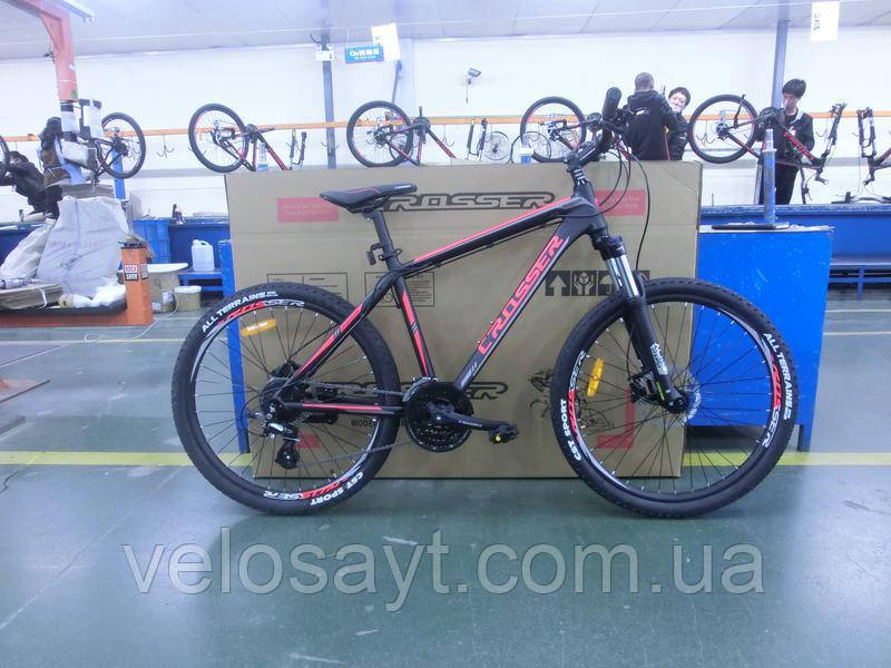 "Горный велосипед 26 дюймов Crosser One рама 18"" Black-Red"