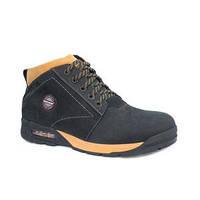 Тепловые мужские ботинки с натуральной кожи и меховой подкладкой