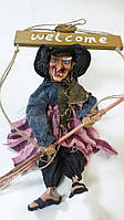 Кукла Баба-яга декоративная длина 42 см