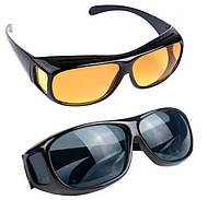 Очки для водителей HD Vision День и Ночь 2 в 1 с антибликовым покрытием