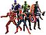 Набор фигурок 7в1 Мстители: Тор, Халк, Танос, Железный Человек, Человек-паук, Капитан Америка, Черная Пантера, фото 2