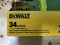 Ключ з трещеткой і набір насадок 34шт DeWALT (DWMT73804), фото 2