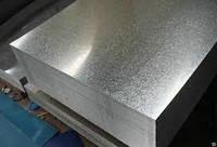 Лист оцинкованный размером 0,3х1250х2000 мм