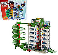 Детская игрушка конструктор автотрек Паркинг 6 етажей 4 машынки