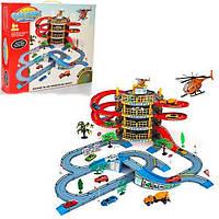 Детская игрушка конструктор паркинг 4 етажа 2 машынки