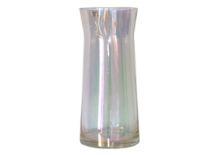 Ваза скляна 22см*11см голографічна