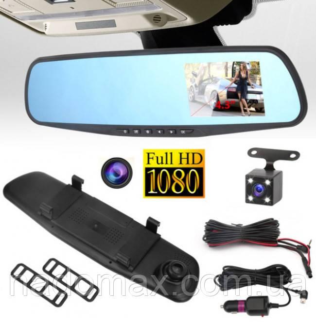 Зеркало видеорегистратор с двумя камерами Blackbox DVR