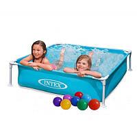 Детский бассейн каркасный Intex 57173 (122*122*30см), фото 1