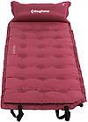 Самонадувающийся коврик KingCamp Base Camp XL(KM3559) (wine red), фото 3