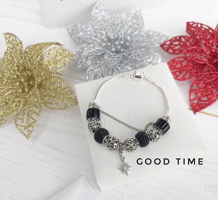 Стильный женский браслет в стиле Pandora с шармами