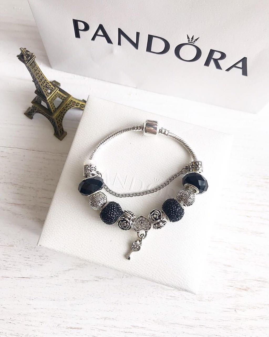 Браслет c подвесками Pandora копия пандора