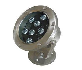 Подводный светодиодный светильник 9W RGB IP68 Ecolend