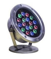 Подводный светодиодный светильник 18W RGB IP68 Ecolend