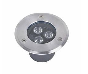 Подводный встраиваемый светодиодный светильник 3*1W зеленый ip68 Ecolend