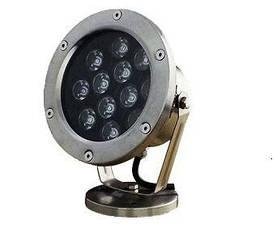 Подводный светодиодный светильник 9W 3000K теплый белый IP68 Ecolend