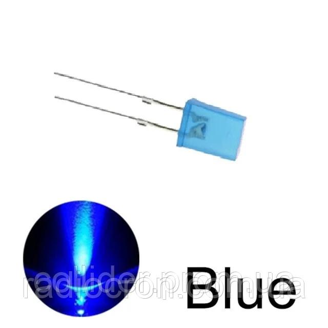 Світлодіод 2*5*7мм прямокутний, Синій