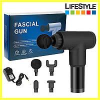Портативный массажер для тела Fascial Gun KH-32 / Мышечный массажер для спины поясницы шеи