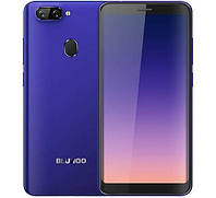 Смартфон синий с двумя камерами и большим экраном на 2 sim Bluboo D6 Pro 2/16GB