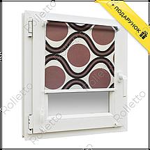 """Тканинні ролети відкритого типу з тканини """"Геометрія"""", фото 3"""