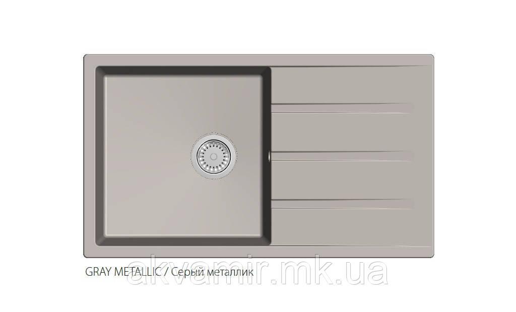 Мойка Fabiano Classic 86x50XL cерый металлик (GREY METALLIC)