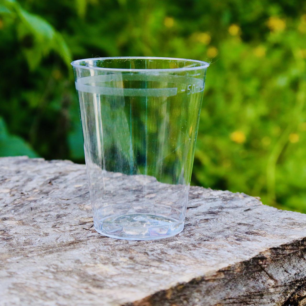 Рюмки пластиковые 6 шт/уп 50 мл прозрачные 5.5х4.5 см, Украина