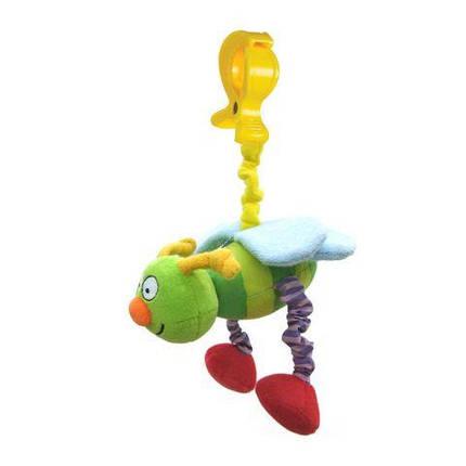 Игрушка-подвеска на прищепке - ЖУЖУ в ассорт. дрожащие бабочка или пчёлка Taf Toys 10555, фото 2