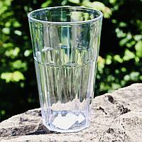 Прочный стакан для коктейлей пластиковый 420 мл прозрачный 12.5х8 см, Украина