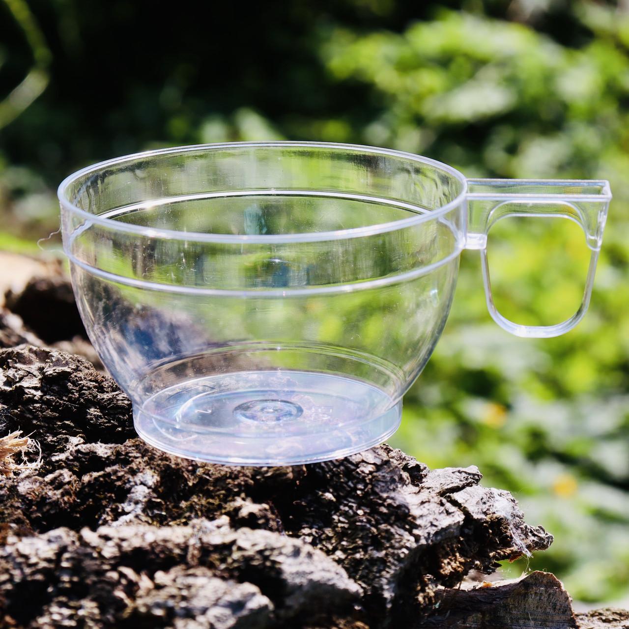 Пластиковые чашки 6 шт/уп 150 мл прозрачные 7.5х4.5 см, Украина