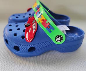 Детские сабо кроксы для мальчика синий Jose Amorales 24р 15см, фото 2