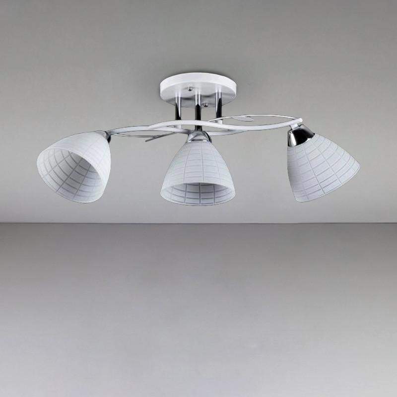 Люстра потолочная на три лампы SH-813755/3 WT+CR белая