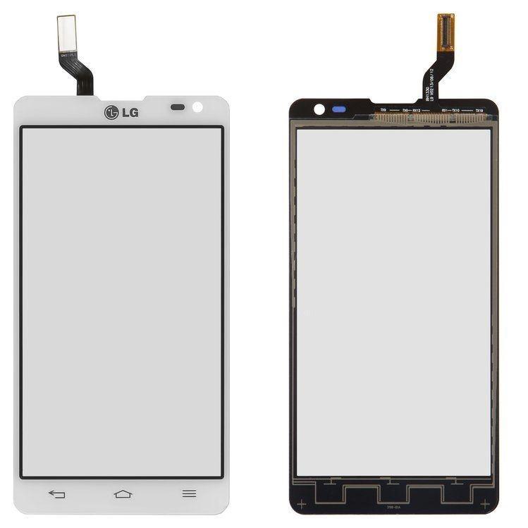 Сенсор (тачскрін) LG D605 Optimus L9 II (original) White