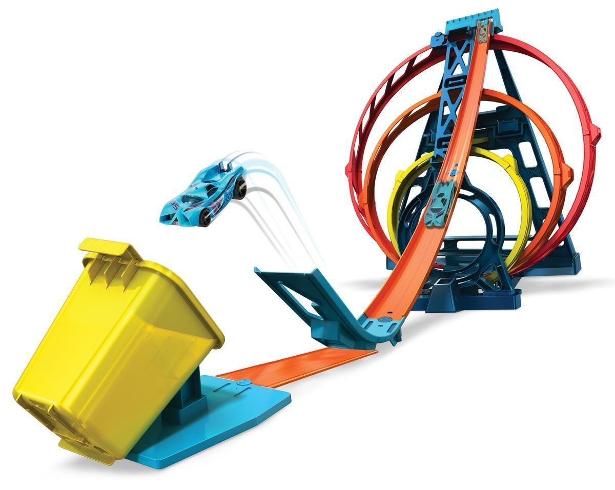 Трек HotWheels Track Builder Тройная петля GLC96