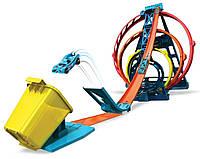 Трек HotWheels Track Builder Тройная петля GLC96, фото 1