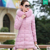 Жіноча зимова куртка із знімним хутром. Модель 6393., фото 10