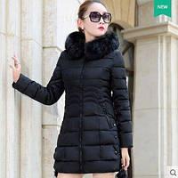 Жіноча зимова куртка із знімним хутром. Модель 6393., фото 7