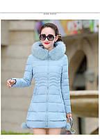 Жіноча зимова куртка із знімним хутром. Модель 6393., фото 9
