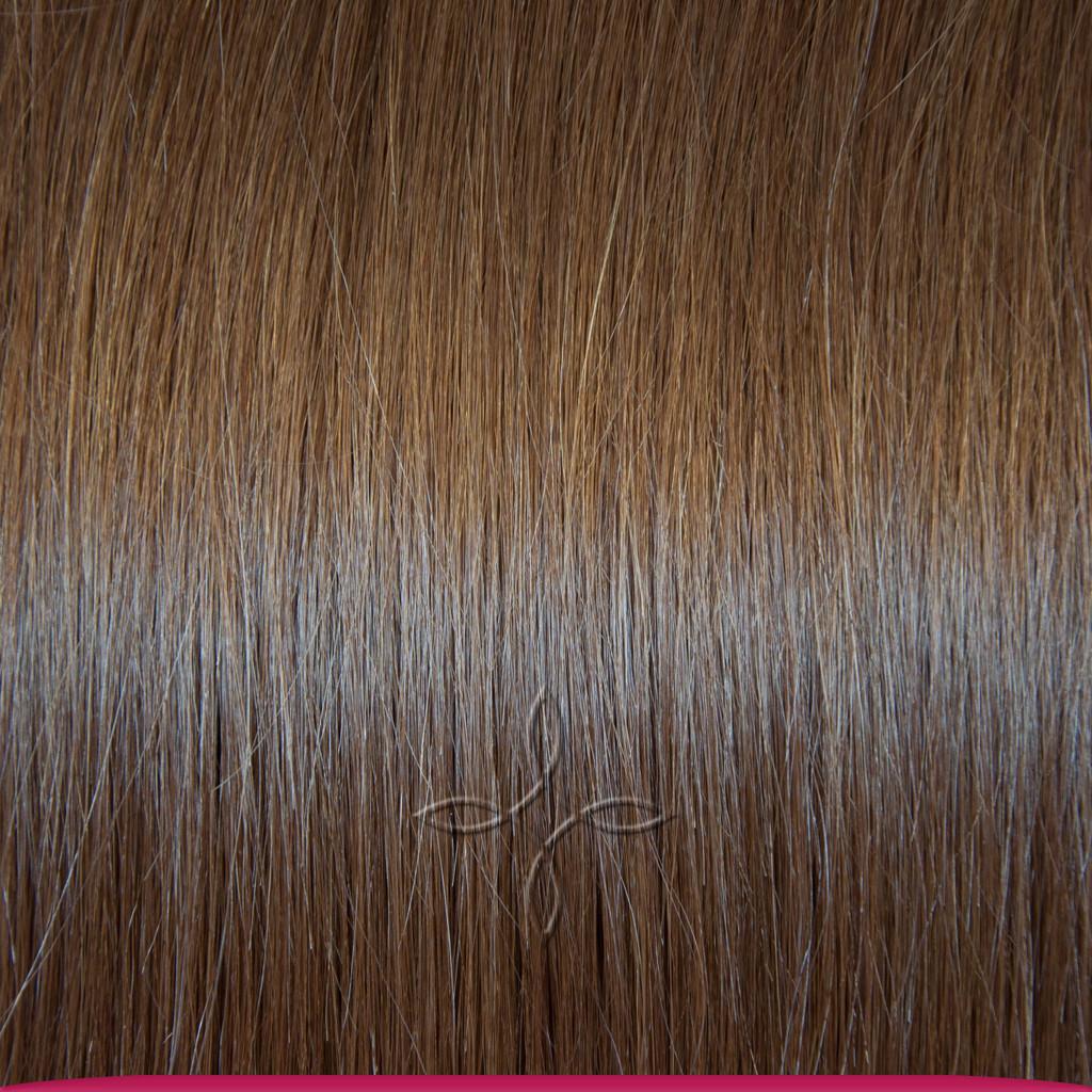 Натуральные Славянские Волосы на Трессе 55-60 см 100 грамм, Шоколад №06